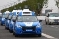 A line of Baidu driverless cars, being showcased at last November's World Internet Conference held in the central Chinese city of Wuhan. Photo: Simon Song