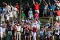 Sergio Garcia struck a hole-in-one on the signature 17th at TPC Sawgrass on a tough day for the world's best. Photo: AFP