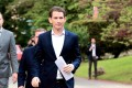 Austria's Foreign Minister Sebastian Kurz leaves a meeting in Vienna at which he was chosen to head the Austrian People's Party. Photo: Xinhua