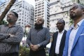 (Left to right) Jamal Ashraff; Muslim Council founder and chairman Adeel Malik; Diallo Ali; and Syed Ridwan Elahi urged officials to act cautiously when warning against terrorism attacks in the city. Photo: Dickson Lee