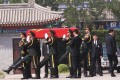 The funeral of former foreign minister and vice-premier Qian Qichen is held at the Babaoshan Revolutionary Cemetery in Beijing on Thursday morning. Photo: Simon Song