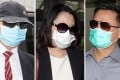 From left: Doctors Stephen Chow and Mak Wan-ling, and technician Chan Kwun-chung are accused of unlawfully killing Chan Yuen-lam in a beauty clinic on October 10, 2012 by gross negligence. Photo: K. Y. Cheng