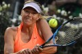 Maria Sharapova is willing to qualify for Wimbledon. Photo: AFP