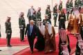 Saudi Arabia's King Salman bin Abdul Aziz al-Saud welcomes US President Donald Trump – and first lady Melania several paces behind – to Riyadh. Photo: Reuters