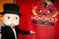 Mr Monopoly in the Hasbro stall at the North American International Toy Fair in New York in 2015,to celebrate the Monopoly brand's 80th anniversary. Photo: AP