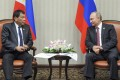 Philippine President Rodrigo Duterte meets Russian President Vladimir Putin in 2016. File photo: AP