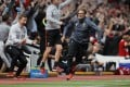 Liverpool manager Juergen Klopp celebrates after Liverpool net a third against Middlesbrough. Photo: Reuters