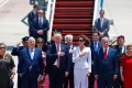 US President Donald Trump landed in Israel on a groundbreaking direct flight Monday from Saudi Arabia, with Israelis and Palestinians eagerly waiting to see how the US president could breathe life into a moribund peace process. Photo: AFP