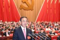 May 22, 2017 Guangzhou (Photo: Nanfang Daily) Guangdong provincial Communist Party secretary Hu Chunhua delivered a speech at the opening of the provincial party congress. SCMP Pictures (UNDATED HANDOUT)