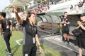 Eastern coach Chan Yuen-ting waves to the crowd after the Season Playoff against Kwoon Chung at Mong Kok Stadium. Photos: Edward Wong