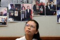 Li Ching-yu, wife of Taiwanese activist Li Ming-che, says her husband visited the mainland once a year. Photo: AFP