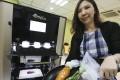 Tthe Hong Kong Council of Social Service demonstrating 3D printing of vegetables. Photo: Dickson Lee