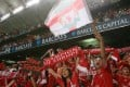 Liverpool fans in final of Barclays Asia Trophy game at the Hong Kong Stadium. 27 JULY 2007