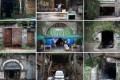 Entrances of air-raid shelters in Chongqing. Pictures: Douglas Hook