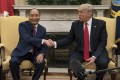 Vietnamese Prime Minister Nguyen Xuan Phuc with US President Donald Trump at the White House. Photo: AFP