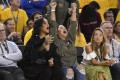Rihanna during game one of the NBA finals between the Golden State Warriors and the Cleveland Cavaliers at Oracle Arena. Photo: USA TODAY Sports