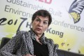 Christiana Figueres in Hong Kong for the World Sustainable Built Environment Conference. Photo: Sam Tsang