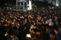 Thousands gather at the annual June 4 vigil in Victoria Park. Photo: Sam Tsang