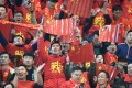 Chinese fans cheer on their team during the Fifa World Cup 2018 qualification match between China and South Korea at Helong Stadium in Changsha. Photo: EPA