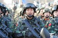 An anti-terror exercise by security forces in Xinjiang in February. Xinjiang's location has always made Beijing vigilant about its security and apt to respond with a heavy hand to outbursts of anti-state violence or unrest. Photo: Handout