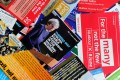Election leaflets from various parties. Britain goes to the polls Thursday. Photo: AFP