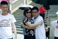 Dong Chao (in glasses) and other gay activists during an LGBT awareness-raising event in Wuhan, Hubei province. in May. Photo: Handout