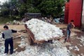 Piles of medical waste were found at a workshop in Miluo, Hunan province. Photo: Handout