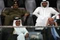 Qatar's Emir Sheikh Tamim Bin Hamad Al-Thani and Fifa president Gianni Infantino watch the final match of the Qatar Emir Cup together , at the Khalifa International Stadium last month. Photo: Reuters