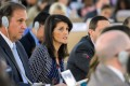 US Ambassador to the United Nations Nikki Haley, second from left, addresses a session of the UN Human Rights Council in Geneva. Photo: AFP