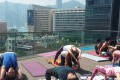Hotel Pravo organises group yoga sessions, which are held on the rooftop of the hotel.