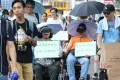 A concern group calls for a better allowance for people with a disability. Photo: Dickson Lee