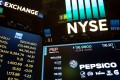 A monitor displays PepsiCo Inc. signage on the floor of the New York Stock Exchange (NYSE) as US stocks fell for the fifth time in six days. Photo: Bloomberg