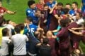 A melee breaks out during the Shanghai SIPG-Guangzhou R&F match. Photo: Youtube