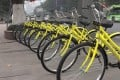 Wukong's bikes pictured on the streets of Chongqing. Photo: Handout