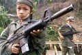 A child soldier from Myanmar's Karen National Union movement. Photo: AFP