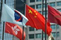 A flag of Hong Kong Exchanges and Clearing Limited (HKEx) flying at Exchange Square. Photo: SCMP
