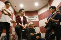 Hong Kong rockers Dear Jane comprises (from left) bassist Jackal Ng, singer Tim Wong, drummer Nice Lai and guitarist Howie Yung. Venue: Tom Lee Music; photo: Jonathan Wong