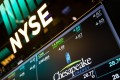 A monitor displays Chesapeake Energy signage on the floor of the New York Stock Exchange (NYSE) as Wall Street declined after the US Senate delayed its vote on repealing Obamacare. Photo: Bloomberg