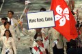 Hong Kong's athletes at the opening ceremony for the 2000 Olympics in Sydney, the first Games as Hong Kong, China and flying the Bauhinia flag. Photo: AP