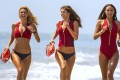 Baywatch cast members (from left) Kelly Rohrbach, Alexandra Daddario, and Ilfenesh Hadera. Photo: Paramount Pictures/ AP