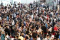 Crowds today continue to flock to new-flat launches despite the record-high property prices. Photo: Edward Wong g