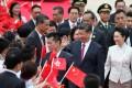 President Xi Jinping and his wife Peng Liyuan arriving at Hong Kong International Airport. Photo: Reuters