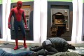 Tom Holland plays the webslinger in Spider-Man: Homecoming (category IIA), directed by Jon Watts.