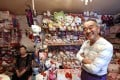 Retired Japanese police officer Masao Gunji, who owns a huge Hello Kitty collection, is pictured with his wife Yoshiko Gunji. Photo: AFP