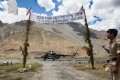 Indian border security officers at Kaza in the Himalayan region of Himachal Pradesh in India. Photo: Alamy