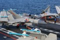 Jets on the deck of the aircraft carrier Liaoning. Photo: Xinhua