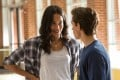 Laura Harrier and Tom Holland in Spider-Man: Homecoming.