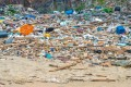 A mountain of rubbish, much of it plastic, on a Hong Kong beach. Photo: Alamy