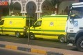 Ambulances wait in front one of two beach resorts were a stabbing attack occurred, in Hurghada, southeast of Cairo, Egypt, on Friday, July 14, 2017. Two German women were killed in the attack. Photo: EPA