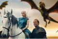 A still from Game of Thrones featuring characters Daenerys Targaryen and Jorah Mormont